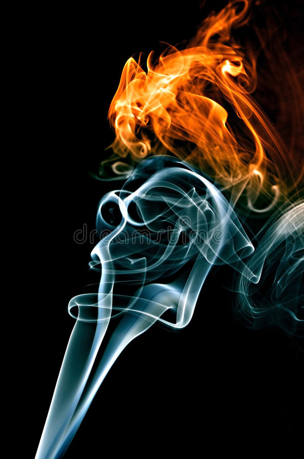 Abstract yellow and white smoke stock photos
