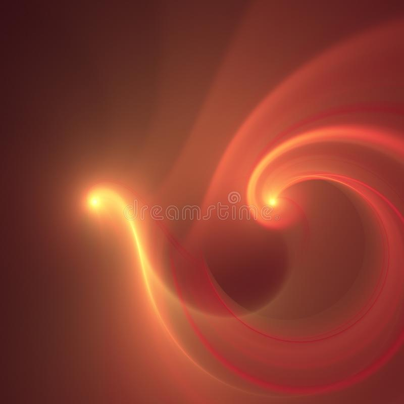 Abstract fractal fire bird. Abstract yelow fractal texture background, concept of fire bird royalty free illustration