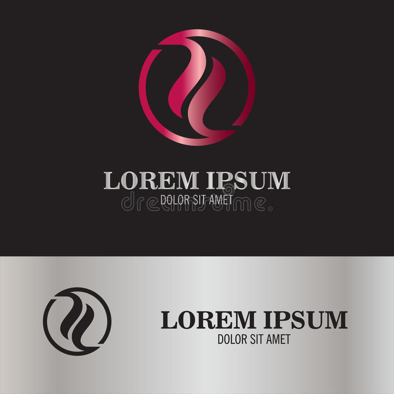 Abstract yin yang embleem vector illustratie