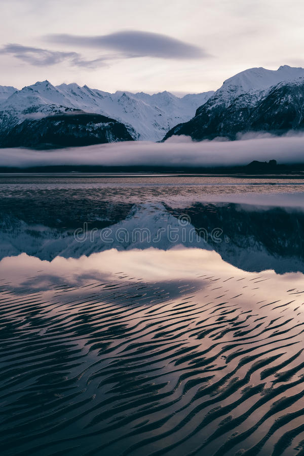 Abstract Zandpatroon op Chilkat, Haines Alaska royalty-vrije stock foto