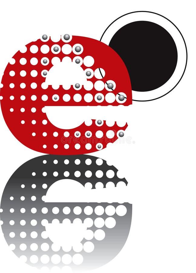 Abstract zenalfabet van punten stock illustratie
