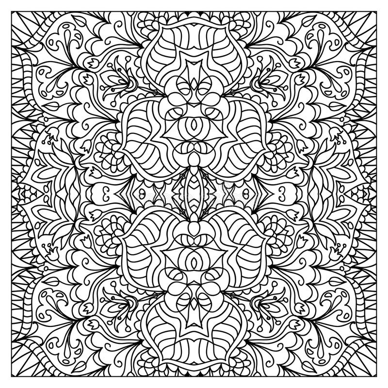 download abstract zentangle coloring page stock illustration image 61288491