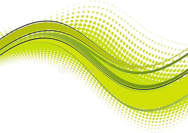 abstract zieloną fala royalty ilustracja