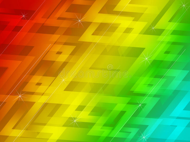 Abstract zig zag line color background_03 vector illustration