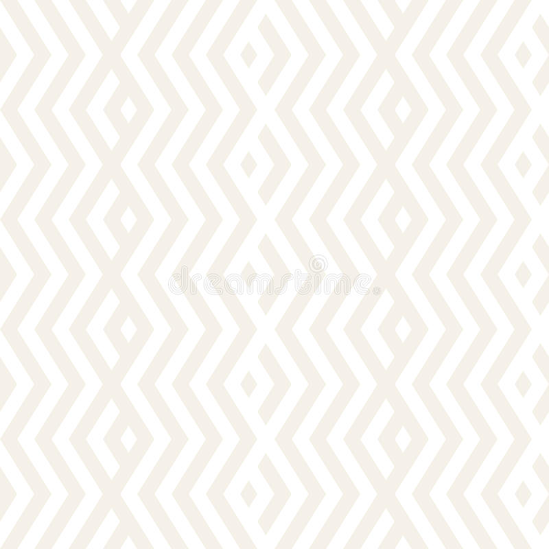 Abstract ZigZag Parallel Stripes. Stylish Ornament. Vector Seamless Pattern. Repeating Subtle Background. Abstract ZigZag Parallel Stripes. Stylish Ethnic stock illustration