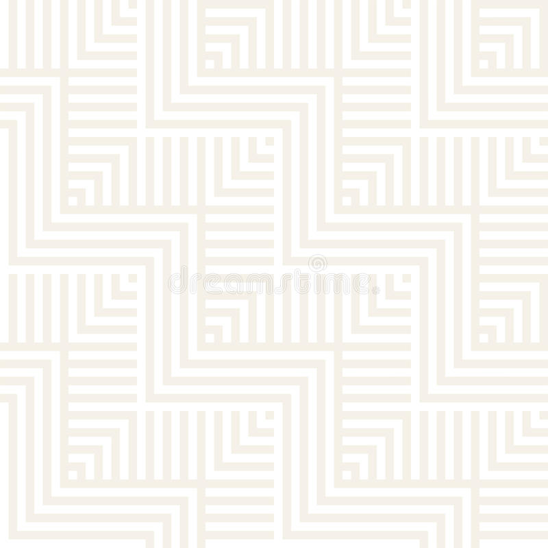 Abstract ZigZag Parallel Stripes. Stylish Ornament. Vector Seamless Pattern. Repeating Subtle Background royalty free illustration