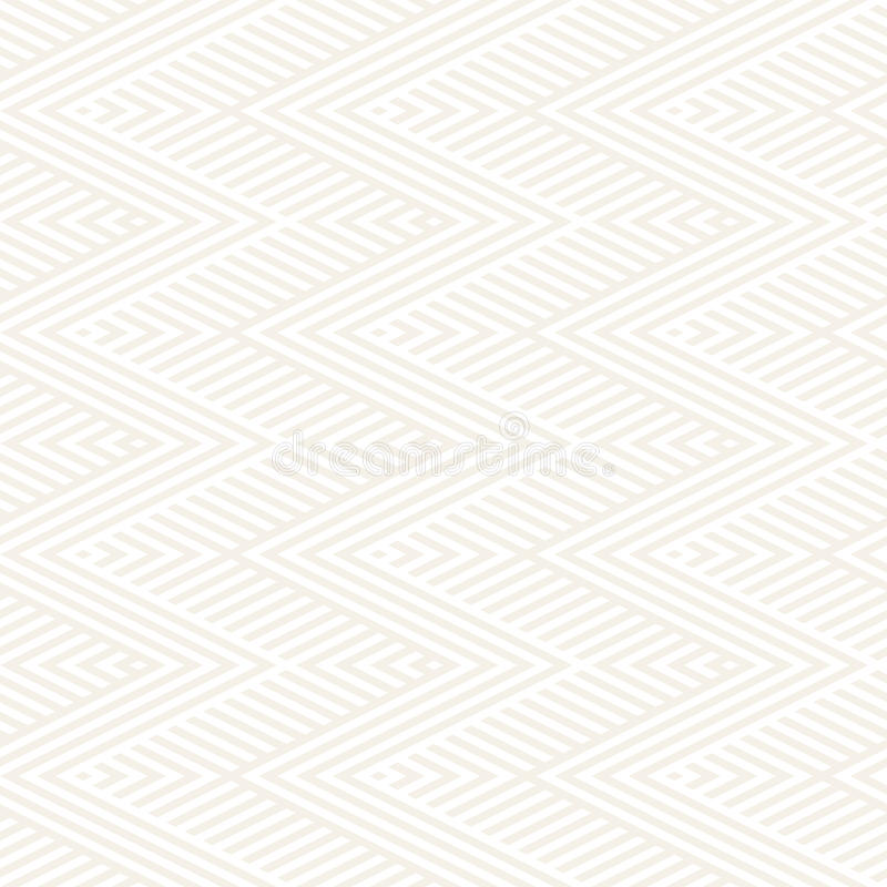 Abstract ZigZag Stripes. Stylish Ethnic Ornament. Vector Seamless Pattern. Repeating Subtle Background royalty free illustration