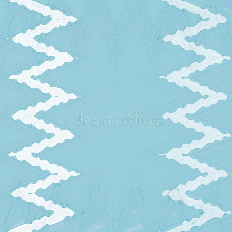 Abstract zigzag wavy background for banner, flyer and poster. Dynamic effect. Cover design template in blue and white. Abstract zigzag wavy background for banner stock illustration