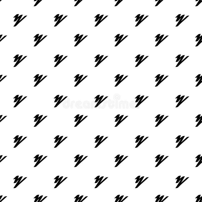 Abstract zigzagpatroon Getrokken hand Naadloos patroon Monochrom stock illustratie