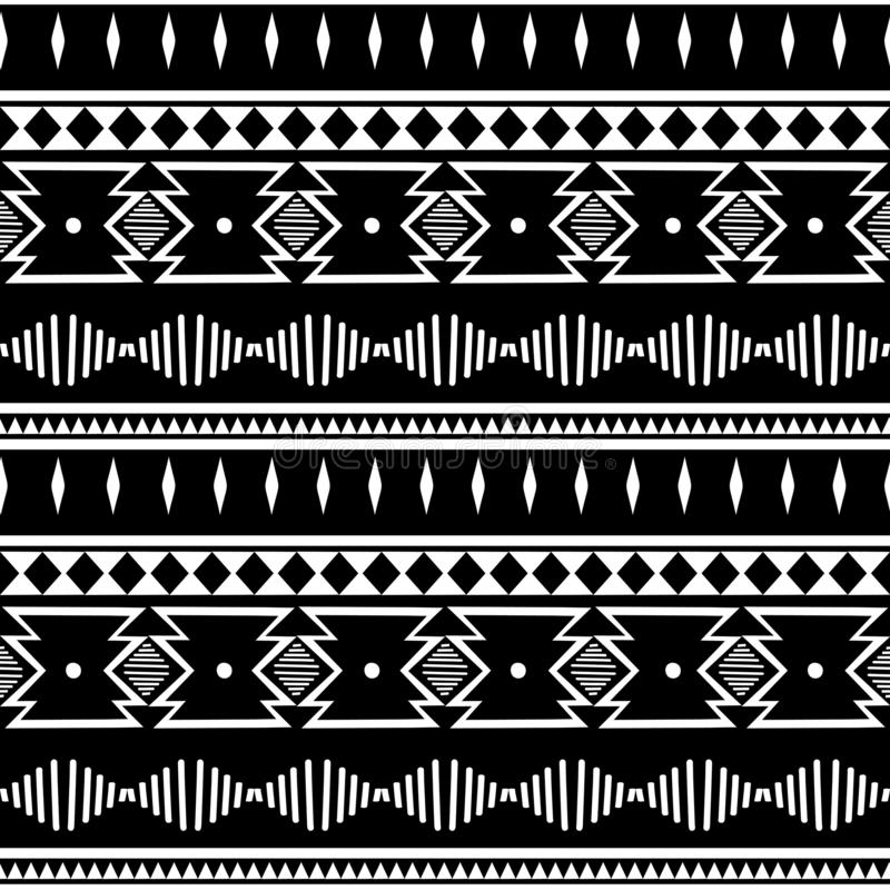 Abstract zigzagpatroon voor dekkingsontwerp Retro chevron vectorachtergrond Geometrische decoratieve naadloze zwart-witte kleuren royalty-vrije illustratie