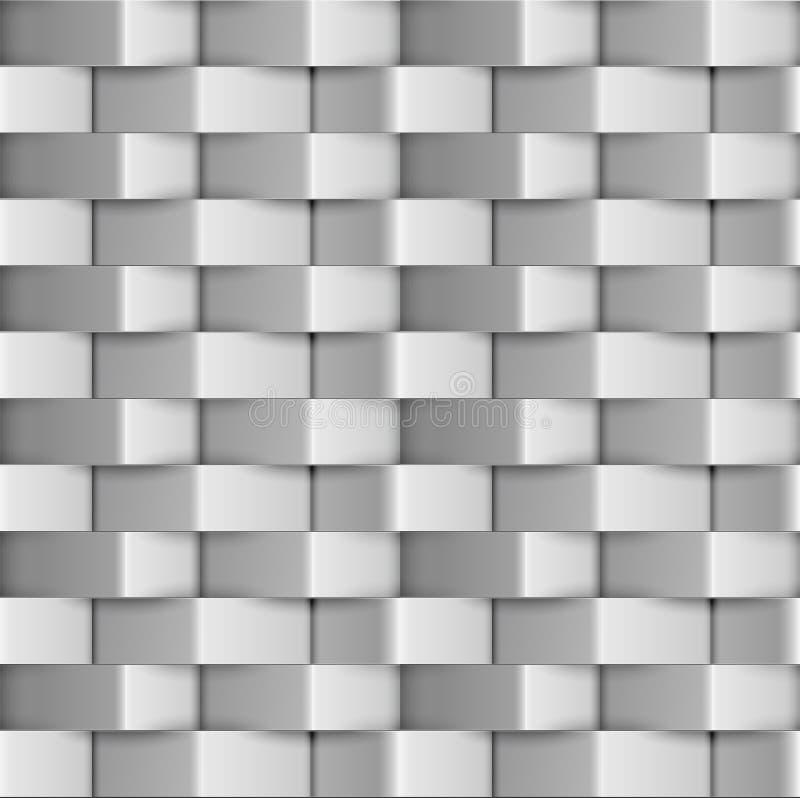Abstract zilveren metaal naadloos patroon stock illustratie