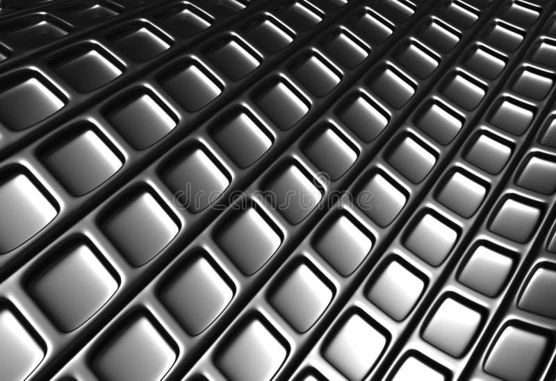 Abstract zilveren vierkant patroon vector illustratie