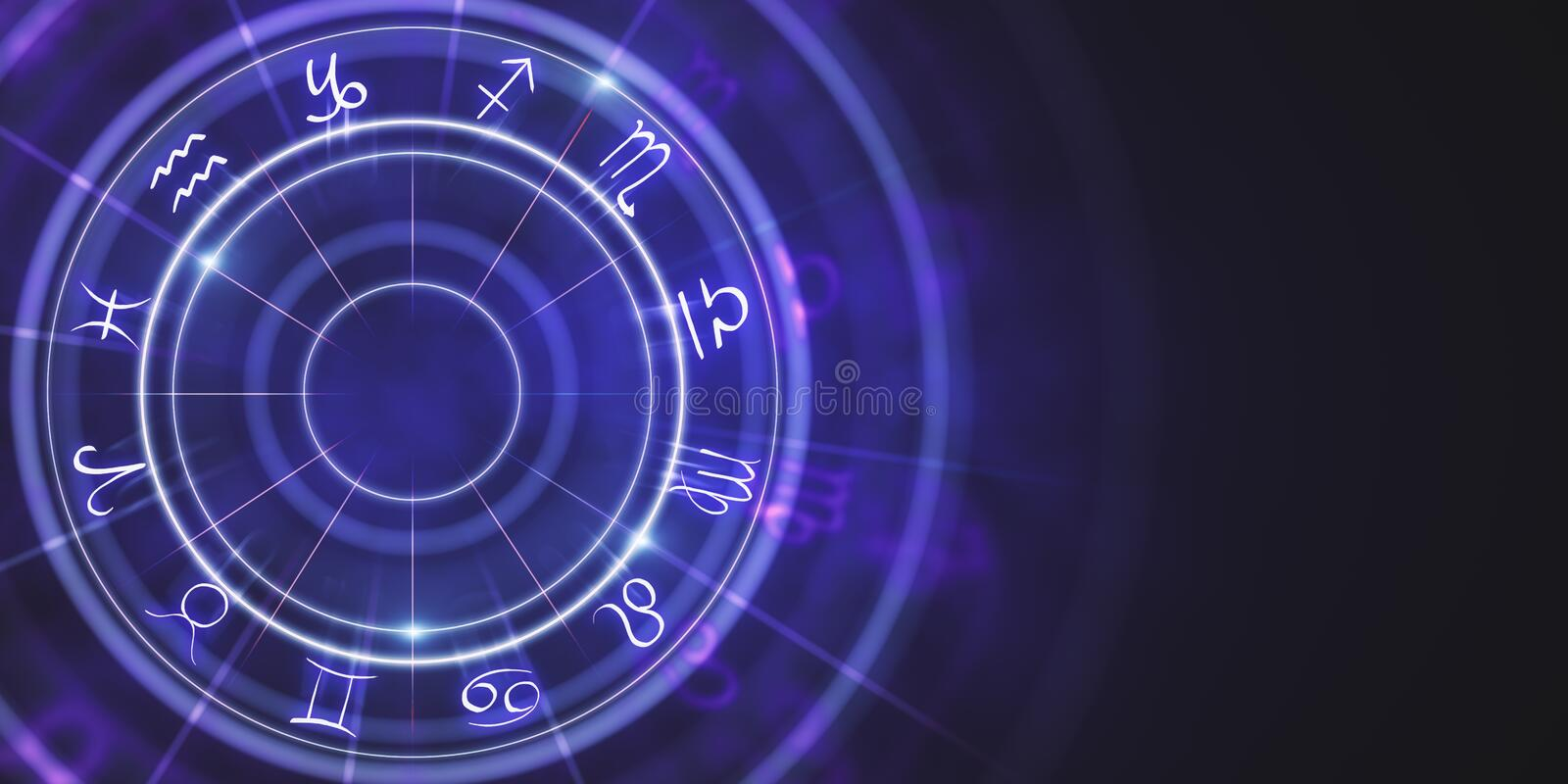 Abstract zodiac wheel wallpaper vector illustration