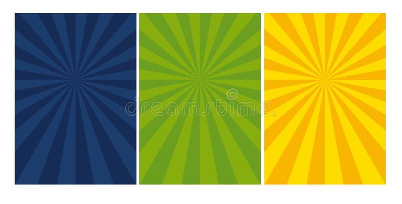 Abstract zonnig dynamisch dekkingsmalplaatje stock illustratie