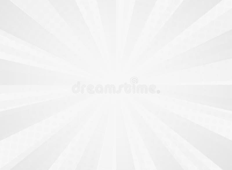 Abstract zonnig uitstralingspatroon van grappige halftone achtergrond van grijs vector illustratie