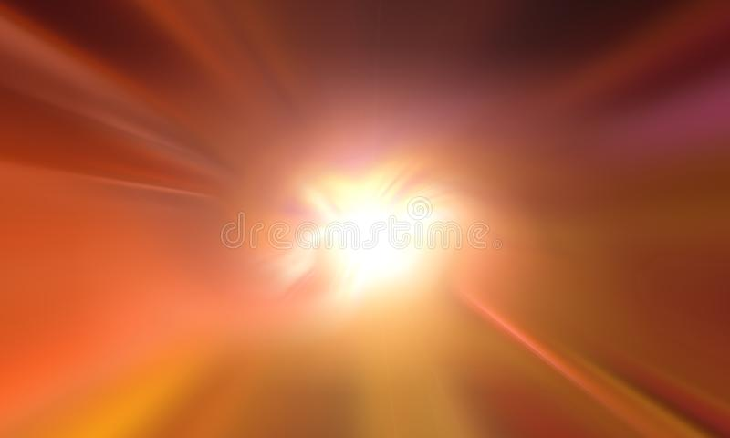 Abstract zoom blur and lighting background,wallpaper.vector illustration. stock image