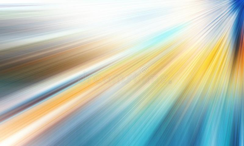 Abstract zoom motion blur. Abstract radial zoom motion design gradient blur stock illustration