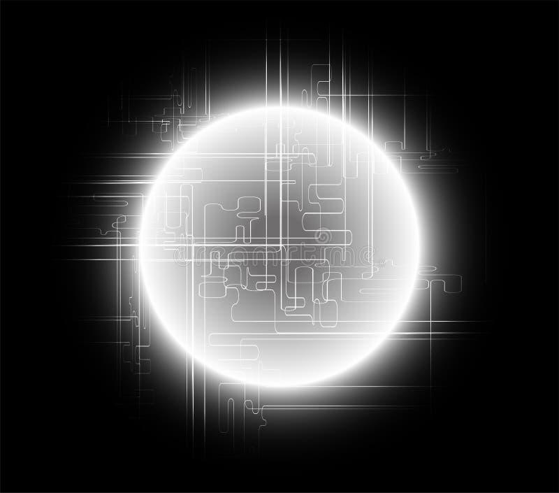 Abstract zwart achtergrond globaal communicatie concept royalty-vrije illustratie
