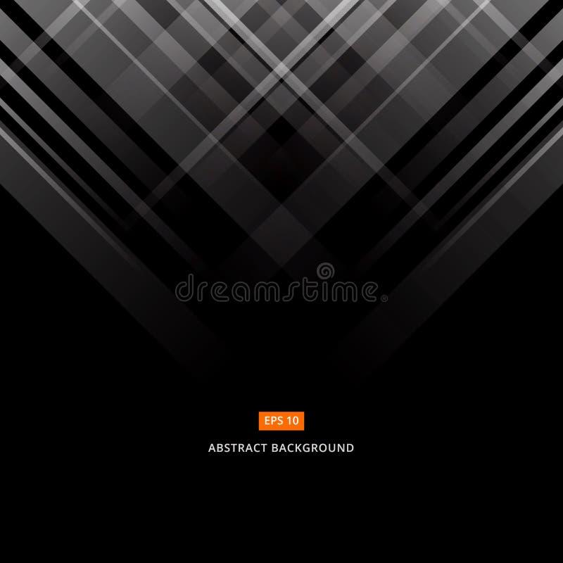Abstract zwart en grijs technologieontwerp Vector collectieve geom royalty-vrije illustratie
