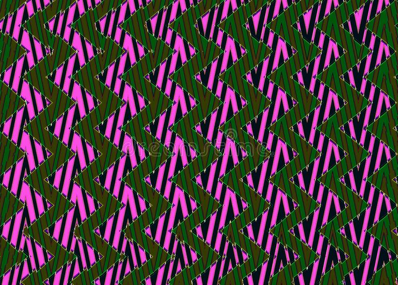 Download Abstract Zwart Roze Groen Zigzagpatroon Stock Foto - Afbeelding bestaande uit kleur, groen: 54078786