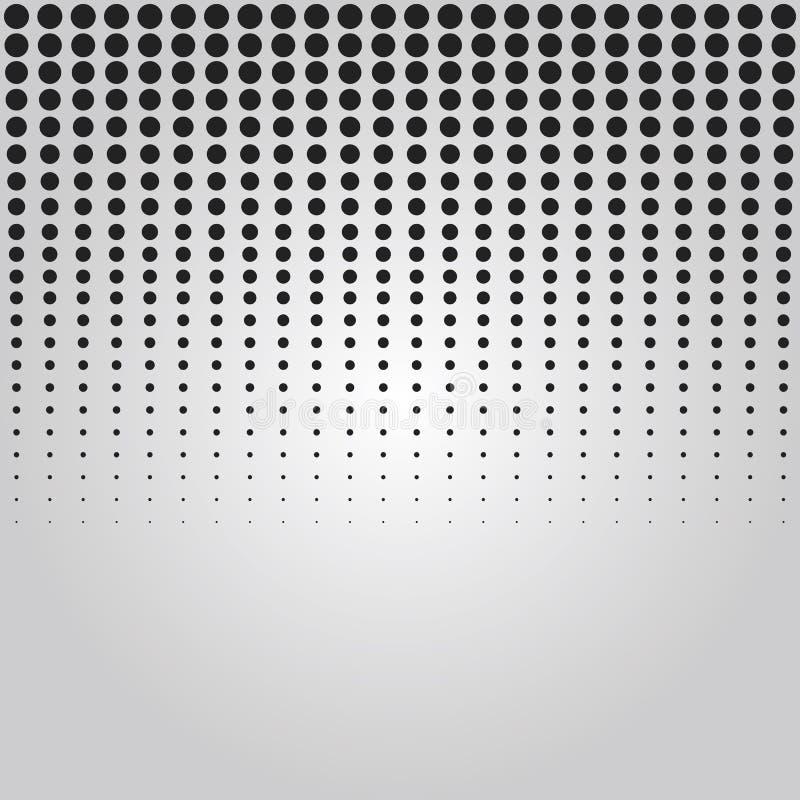 Abstract zwart verticaal gelaten vallen het effect van de punten halftone techniek achtergrondontwerpelement vector illustratie