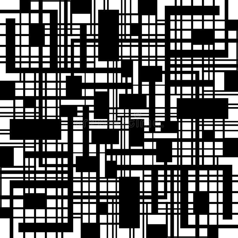 Abstract zwart-wit geometrisch patroon stock illustratie