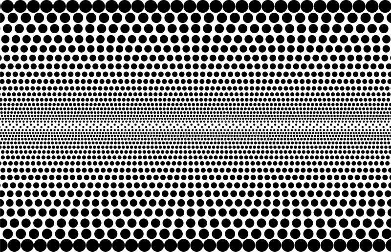 Abstract zwart-wit halftone patroon - geperforeerde achtergrond vector illustratie