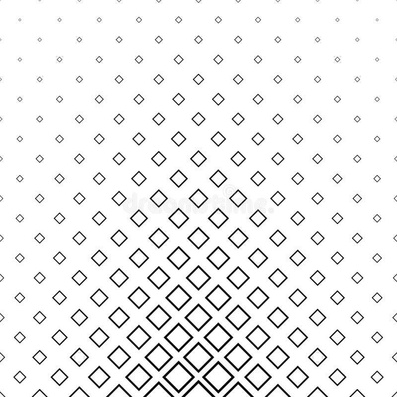 Abstract zwart-wit lijn vierkant patroon stock illustratie