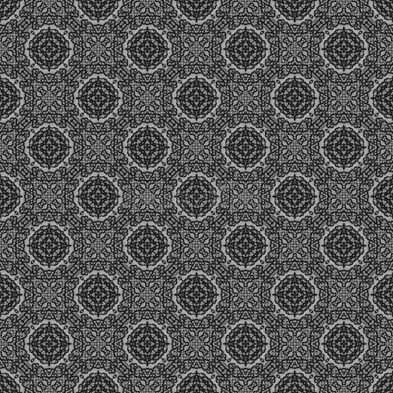 Abstract zwart-wit naadloos patroon als achtergrond 3D geef illus terug vector illustratie