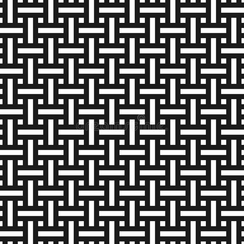 Abstract zwart-wit weefsel naadloos patroon in Aziatische stijl royalty-vrije illustratie
