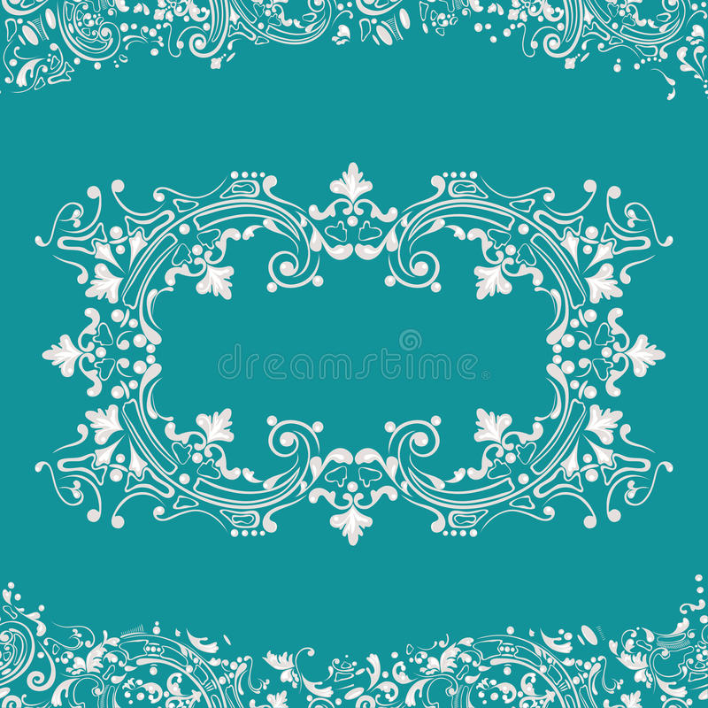 Abstractbackground, swirling decorative pattern frame vector illustration