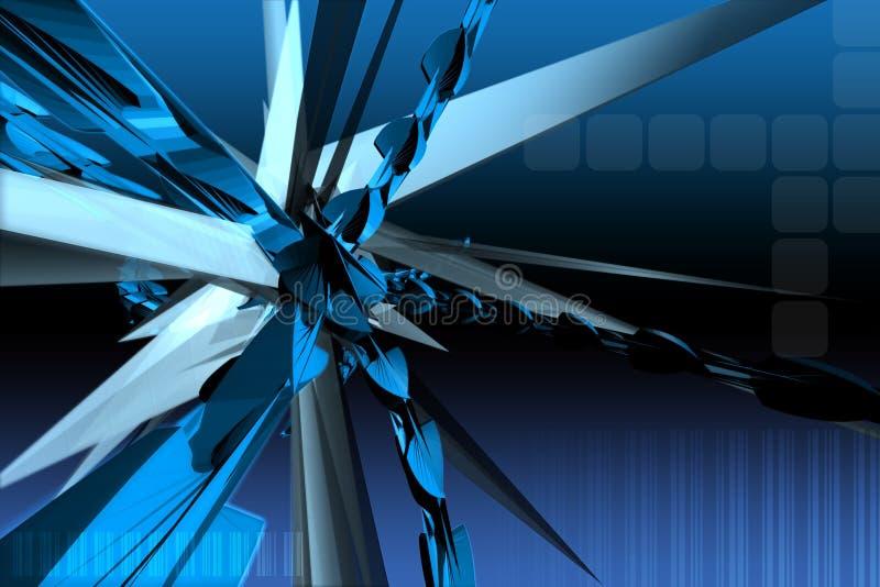 Abstracte 3d vector illustratie