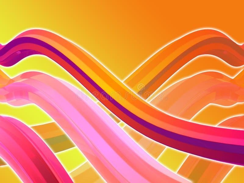 Abstracte 3d achtergrond vector illustratie