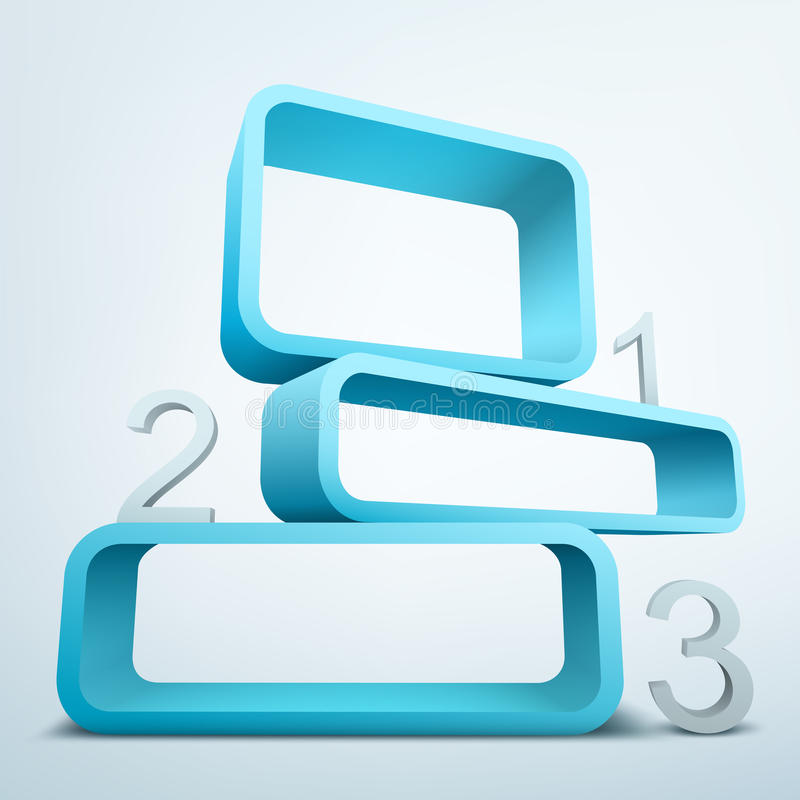 Abstracte 3d frames vector illustratie