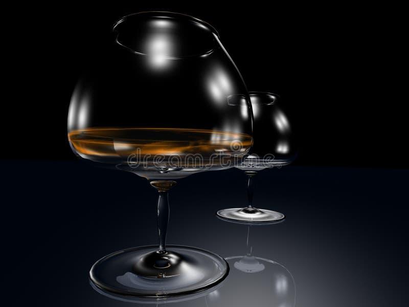 Abstracte 3D glazen stock illustratie