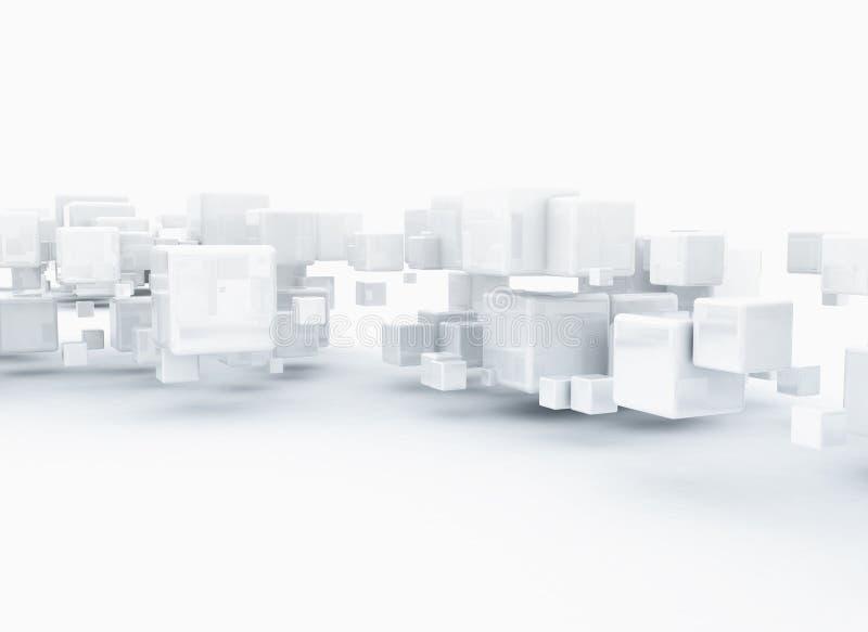 Abstracte 3d kubussenachtergrond stock illustratie