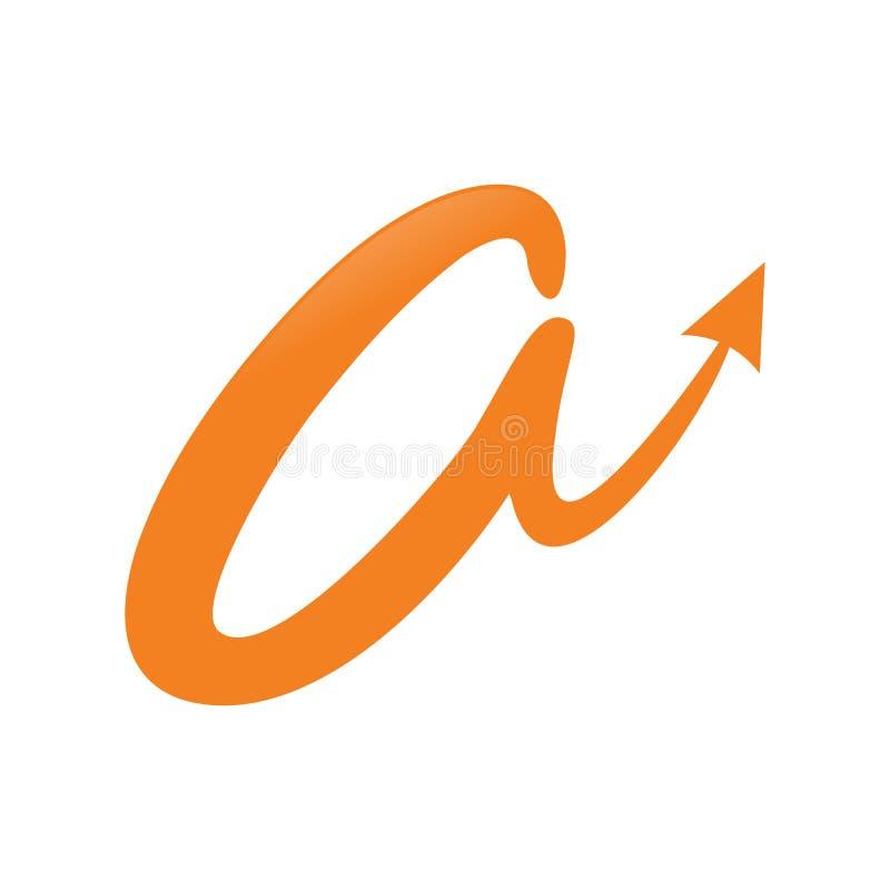 Abstracte Aanvankelijk een Lettermark-Symbool vector illustratie