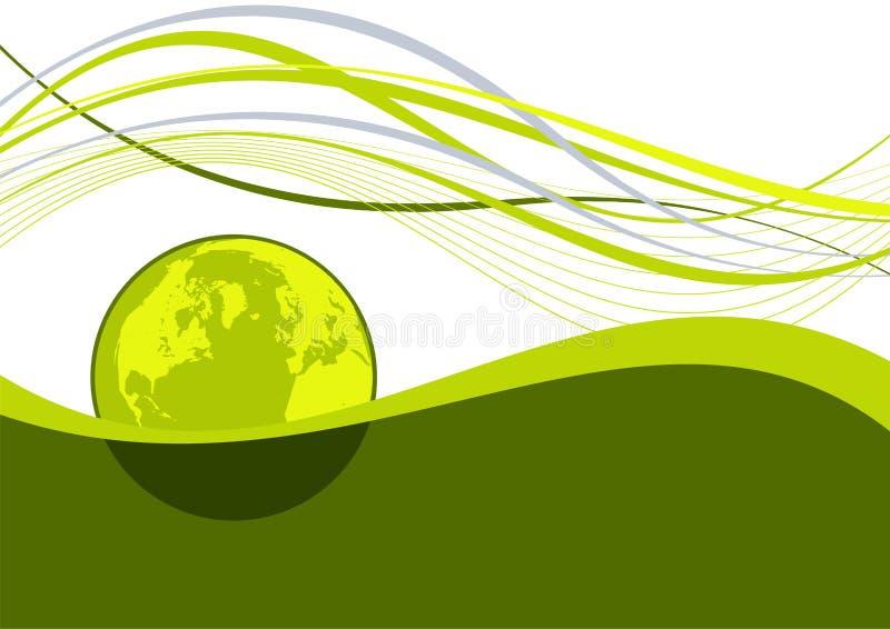 Abstracte aarde golvende lijnen royalty-vrije illustratie