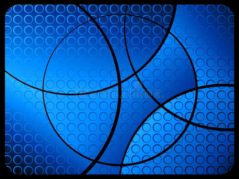 Abstracte achtergrond 2 blauw stock illustratie
