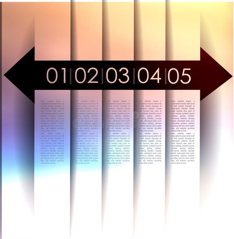 Abstracte achtergrond, aantallijn stock illustratie
