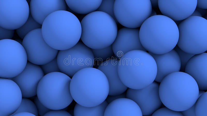 Abstracte achtergrond - ballen in blauw