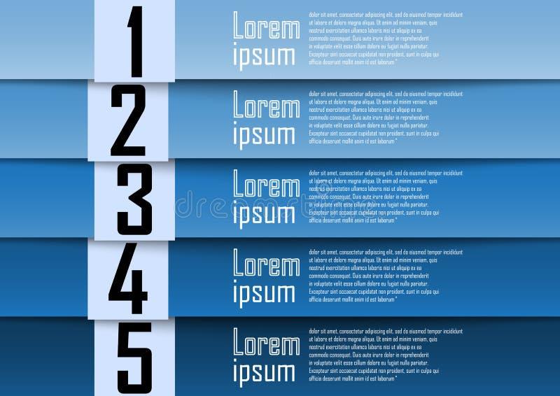 Abstracte achtergrond, blauwe aantallijn, informatie-grafiek, aantalverbod stock illustratie