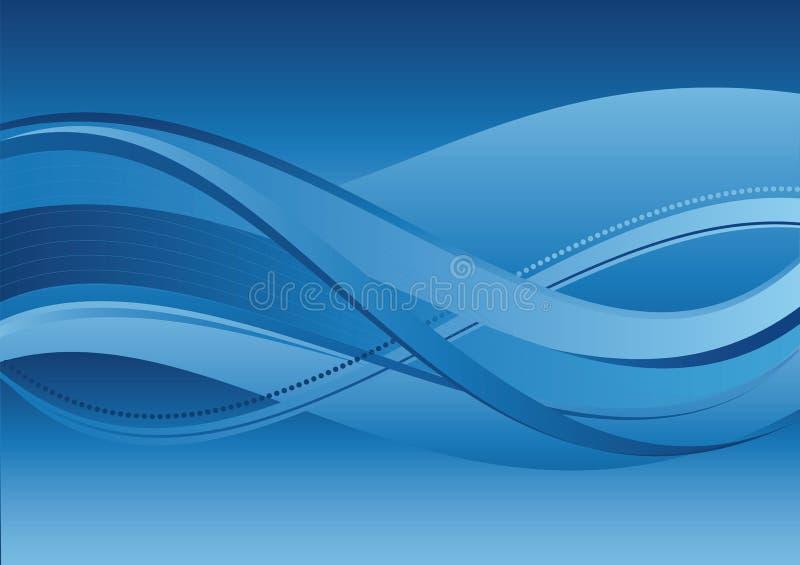 Abstracte achtergrond - blauwe golven royalty-vrije stock foto
