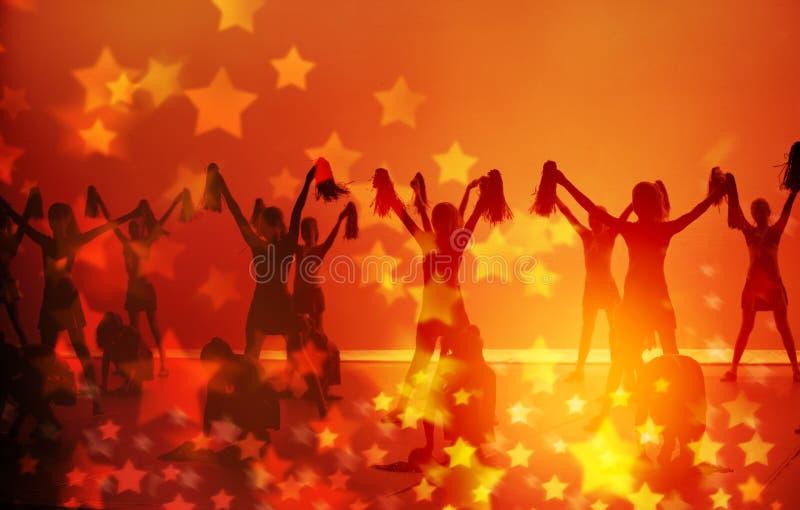 Abstracte Achtergrond Cheerleading royalty-vrije stock afbeeldingen