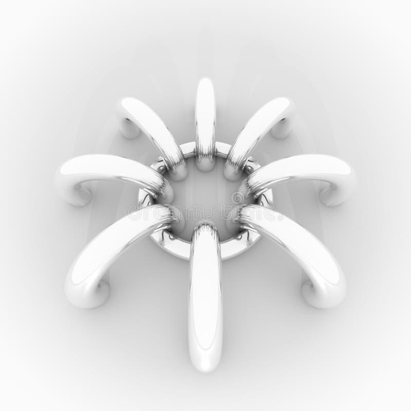 Abstracte achtergrond, chroomringen vector illustratie