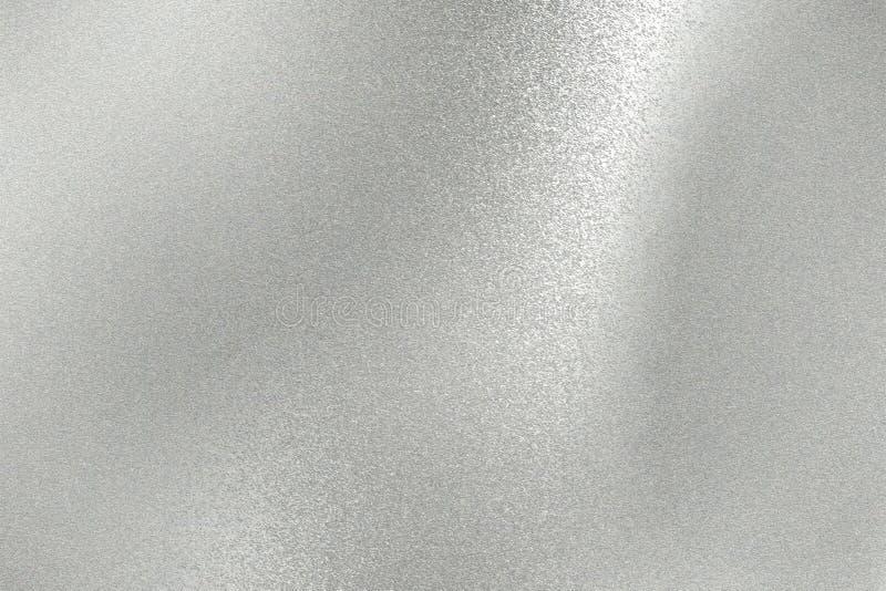 Abstracte achtergrond, de glanzende zilveren textuur van de metaalplaat stock afbeelding
