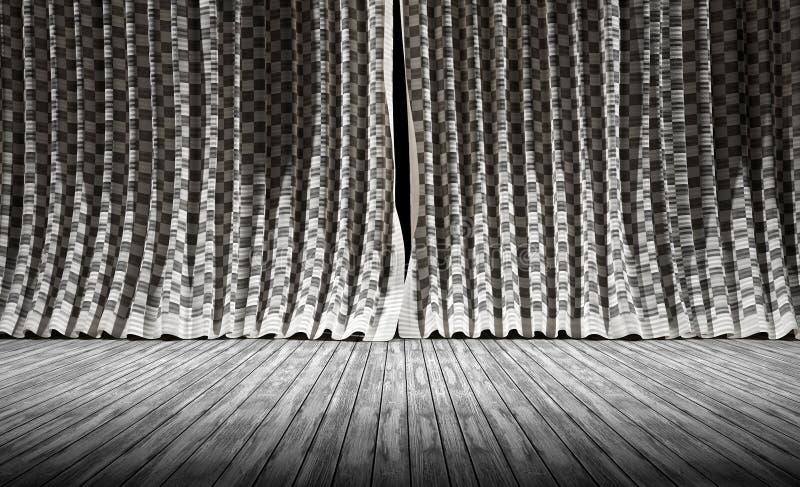 abstracte achtergrond De Gordijnen van de stoffentextuur vector illustratie