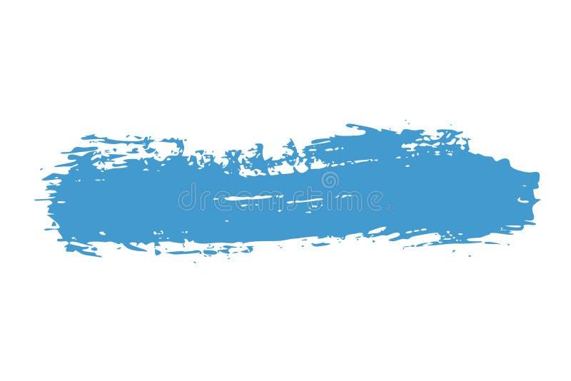 abstracte achtergrond De slagen van de inktborstel met ruwe randen Vector frame royalty-vrije illustratie