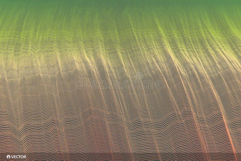 abstracte achtergrond De stijl van de technologie 3d netwerkontwerp met deeltjes Vector illustratie Het malplaatje van het dekkin vector illustratie
