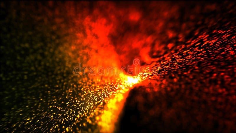 Abstracte achtergrond die hete deeltjes branden royalty-vrije stock fotografie
